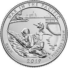 25 центов 2019 год. 48-й парк. Монумент воинской доблести в Тихом океане