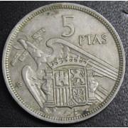 5 песет 1957 год . Испания