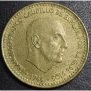 1 песета  1966 год  Испания