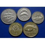Набор монет  Исландия 2005-2008 г.г