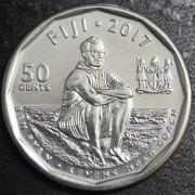 50 центов   2017 год. Фиджи (Регби)