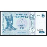 5 лей 2013 год . Молдавия