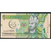 1  манат 2017 год. Туркменистан