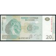 20 франков  2003 год . Конго