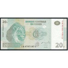 20 франков  2003 год . Конго в интернет магазине Монетабум
