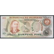 10 песо 1974-1978  год . Филиппины