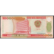 100 000 метикал  1993 год . Мозамбик