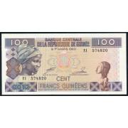 100 франков 2012 год . Гвинея