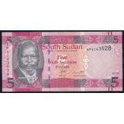 5  фунтов 2015 год.  Южный Судан
