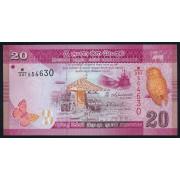 20 рупий 2015 год. Шри-Ланка