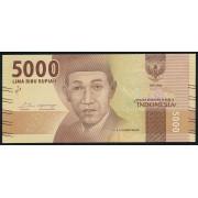 5000  рупий  2016 год . Индонезия