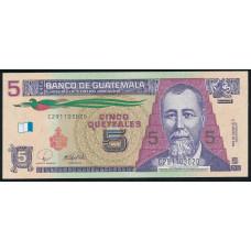 5 кетцаль 2008 год . Гватемала
