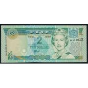2 доллара 2002 год .  Фиджи