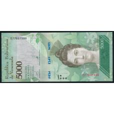 5000  боливаров 2017 год  Венесуэла