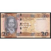 20 фунтов 2017 год.  Южный Судан