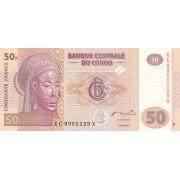 50 франков  2007 год . Конго