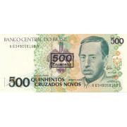 500 крузейро 1990 год .Бразилия