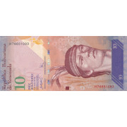 10 боливаров 2007 год . Венесуэла