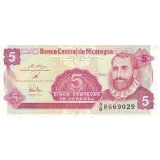 5 сентаво 1991 год .  Никарагуа