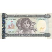5 накфа 1997 год . Эритрея