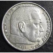 2 марки 1939 год. Пауль фон Гинденбург