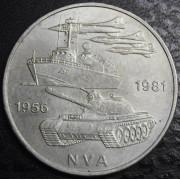 10 марок 1981 год. 25 лет Национальной народной армии