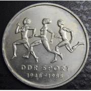 10 марок 1988 год. Спорт ГДР