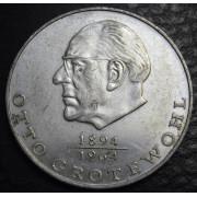20 марок 1973 год.  Отто Гротеволь