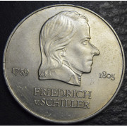 20 марок 1972 год. Фридрих фон Шиллер