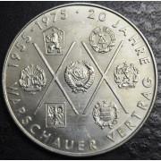 10 марок 1975 год.  20 лет Варшавскому договору