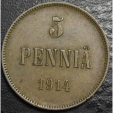 5 пенни 1914 год