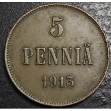 5 пенни 1913 год