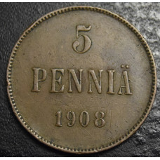 5 пенни 1908 год