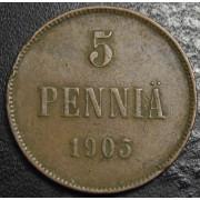 5 пенни 1905 год