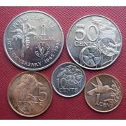 Набор монет  Тринидад и Тобаго 1995-2010 год
