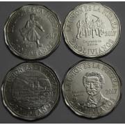 Набор монет  Боливия.  2 боливиано 2017 год .  Вторая Тихоокеанская война