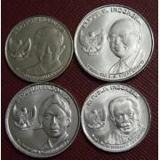 Набор монет.  Индонезия 2016 год