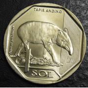 1 соль  2018 год  Перу . Горный тапир