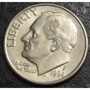 1 дайм 1994 год-Рузвельт