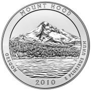 """25 центов 2010 год.  5-й Национальный парк """" Маунд Худ (Орегон) """""""