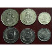 Набор монет  Карибы Восточные   2004-2008 г.г
