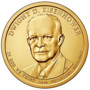 1 доллар 2015 год  34-й президент Дуайт Эйзенхауэр