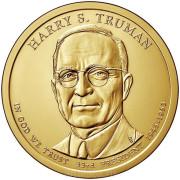 1 доллар 2015 год  33-й президент  Гарри Трумэн