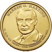 1 доллар 2014 год  29-й президент Уоррен Хардинг