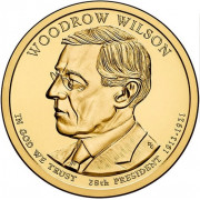 1 доллар 2013 год  28-й президент Вудро Вильсон