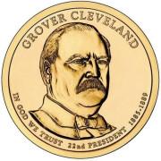 1 доллар 2012 год  22-й президент Гровер Кливленд