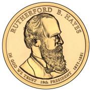 1 доллар 2011 год  19-й президент Ратерфорд Бёрчард  Хейс