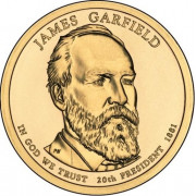 1 доллар 2011 год  20-й президент Джеймс Гарфилд
