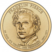 1 доллар 2010 год  14-й президент Франклин Пирс
