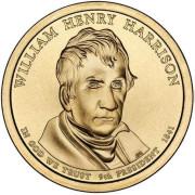 1 доллар 2009 год  9-й президент Уильям Генри Гаррисон